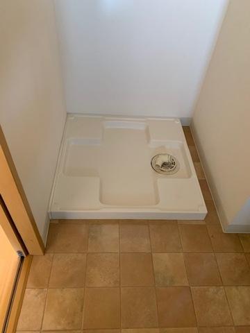 洗濯機は脱衣所に・・来客時も見られずに・・(嬉)